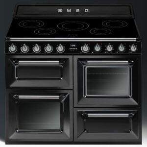 Smeg 110cm Victoria Range Cooker with Induction Hob Black - TR4110IBL