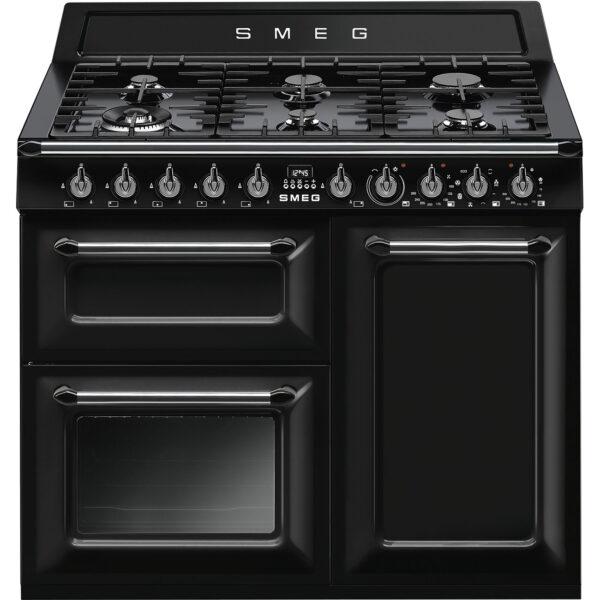 Smeg Victoria Dual Fuel Range Cooker 100cm Wide – Black – TR103BL