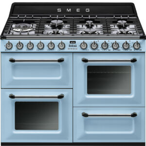 Smeg 110cm Traditional Dual Fuel Range Cooker Pastel Blue - TR4110AZ