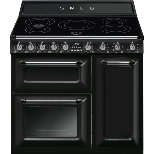 Smeg 90cm Traditional Range Cooker with Induction Hob - TR93IBL