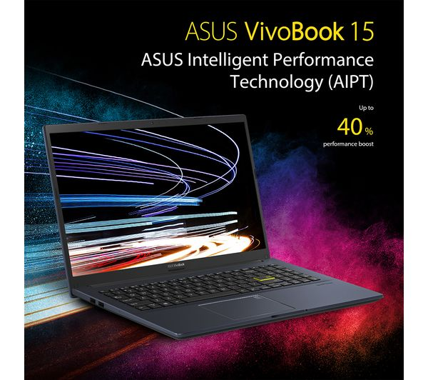 ASUS VivoBook 15.6 Inch Full HD Laptop   Intel Core i3, 4GB RAM, 256GB SSD   X513EA-EJ775T