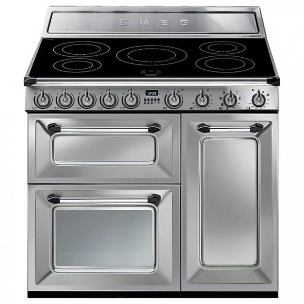 Smeg 90cm Range Cooker Traditional Three Cavity with Induction Hob Stainless Steel - TR93IX
