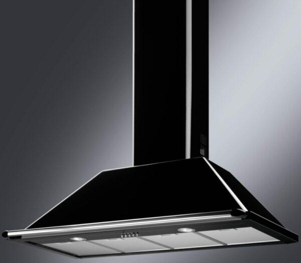 Smeg Black Stainless Steel Chimney Cooker hood, (W)110cm - KT110BL