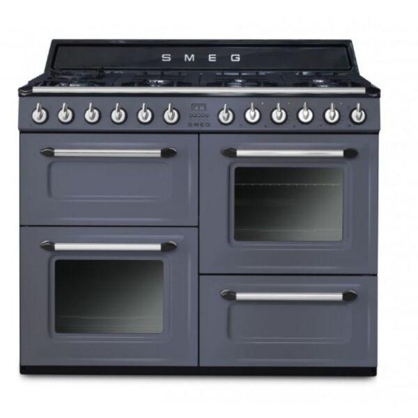 Smeg 110cm Dual Fuel Range Cooker - TR4110GR - Grey