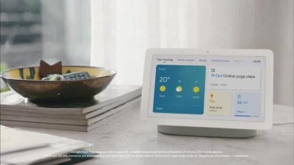 Google Nest Hub 2nd Gen with Google Assistant Charcoal – GA01892-GB