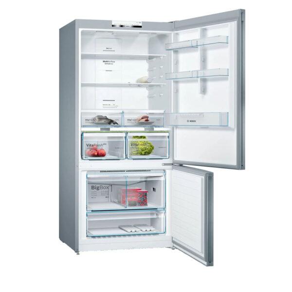 Bosch Serie 4 631L Free-Standing Fridge Freezer - Stainless Steel - KGN864IFA
