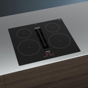 Siemens IQ-300 59cm Venting Induction Hob Black - EH611BE15E