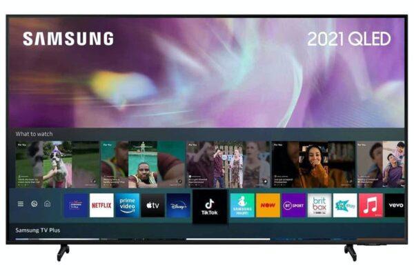 """Samsung 65"""" 4K Ultra HD HDR QLED Smart TV (2021) - QE65Q60AAUXXU"""
