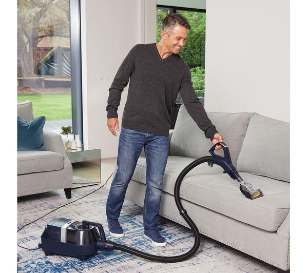Shark Dynamic Technology & Anti Hair Wrap Cylinder Bagless Vacuum Cleaner Blue – CZ250UKT