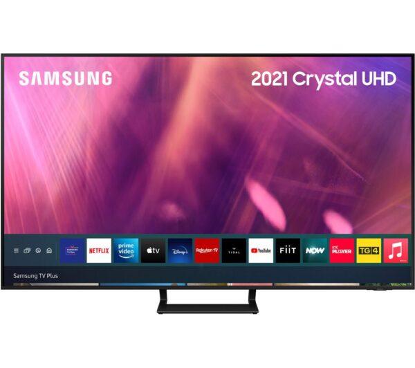 """Samsung 55"""" HDR Smart LED TV w/ Voice Assistants - UE55AU9070UXXU"""
