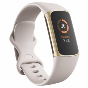 Fitbit Charge 5 Fitness And Health Tracker Lunar White / Soft Gold - 79-FB421GLWT